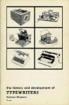 the history and development of TYPEWRITERS