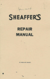 Sheaffer's Repair Manual (a reprint)